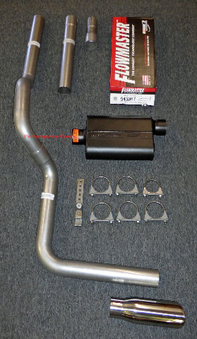 88-01 Dodge Ram Mandrel Bent Exhaust w/ Flowmaster Super 44 Muffler