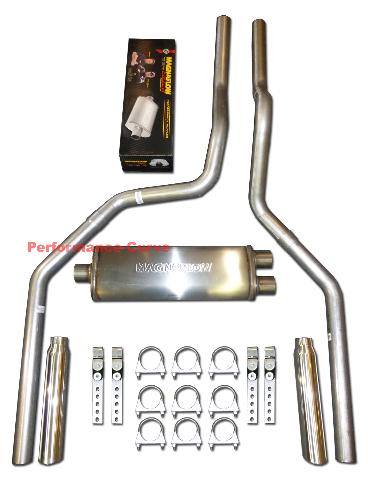 Fits 01-06 Tahoe Yukon 4.8 5.3 Mandrel Bent Exhaust Cat-Back Pipe Kit No Muffler