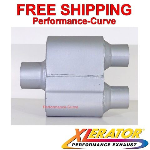 "3 Chamber Performance Muffler Ceramic Dual 2.5/"" IN \ Dual 2.5/"" Out"