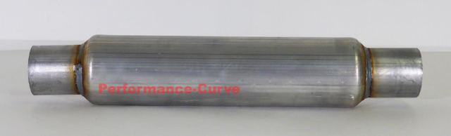 """FULL BOAR 3.5/"""" Diameter 12/"""" Body 2.25/"""" Glass Pack Muffler"""