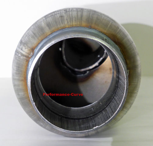 "Resonator Full Boar Jones Exhaust 18/"" Body 2.5/"" Turbo Tube Muffler"