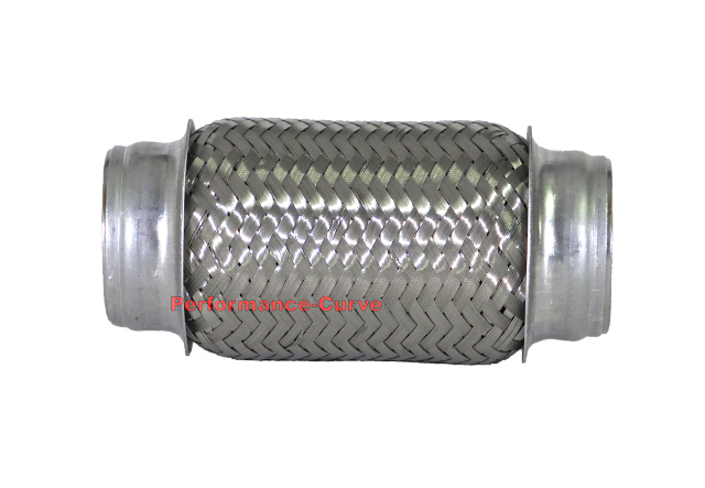 """Exhaust FLEX PIPE 2/"""" x 4/"""" Heavy Duty Stainless Steel 4/"""" Overall Length 1132004B"""