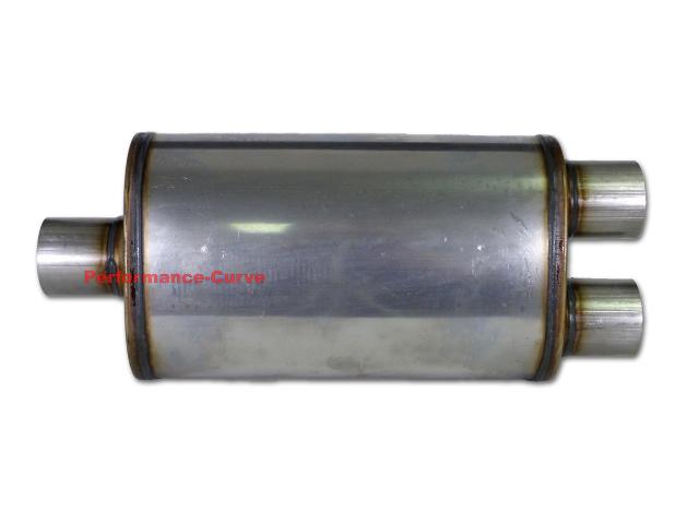 "Jones Exhaust MF2158 5/"" x 8/"" x 14/"" Universal Max Flow Oval Muffler 2.5/"" IN//OUT"