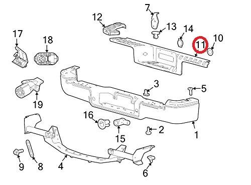 Genuine Ford F 150 Rear Bumper Step Pad Protector Guard Cover Wo