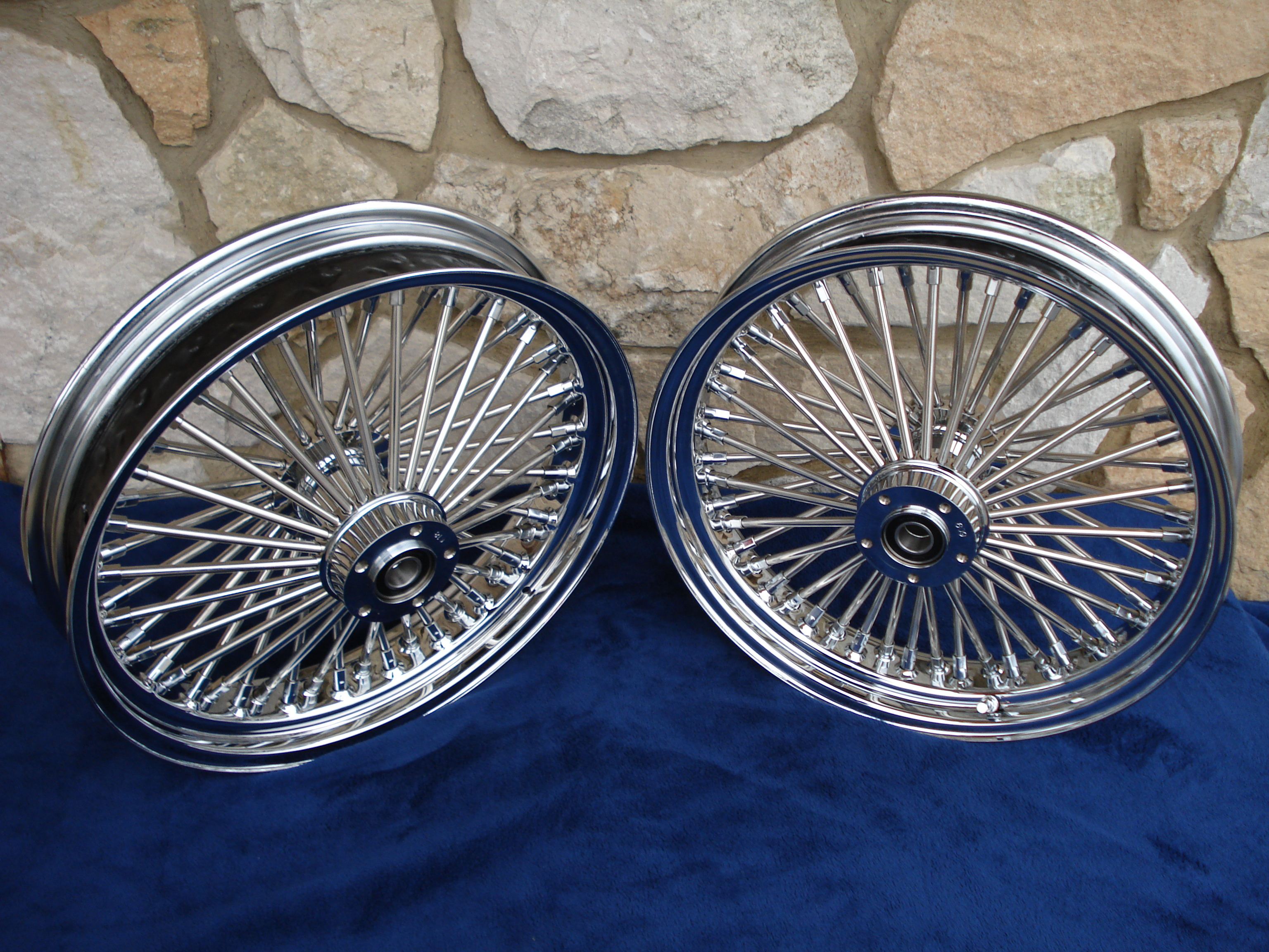 "16""X3.5"" DNA 52 FAT DADDY SPOKE WHEEL SET FOR INDIAN SCOUT SIXTY BOBBER 2015-UP"