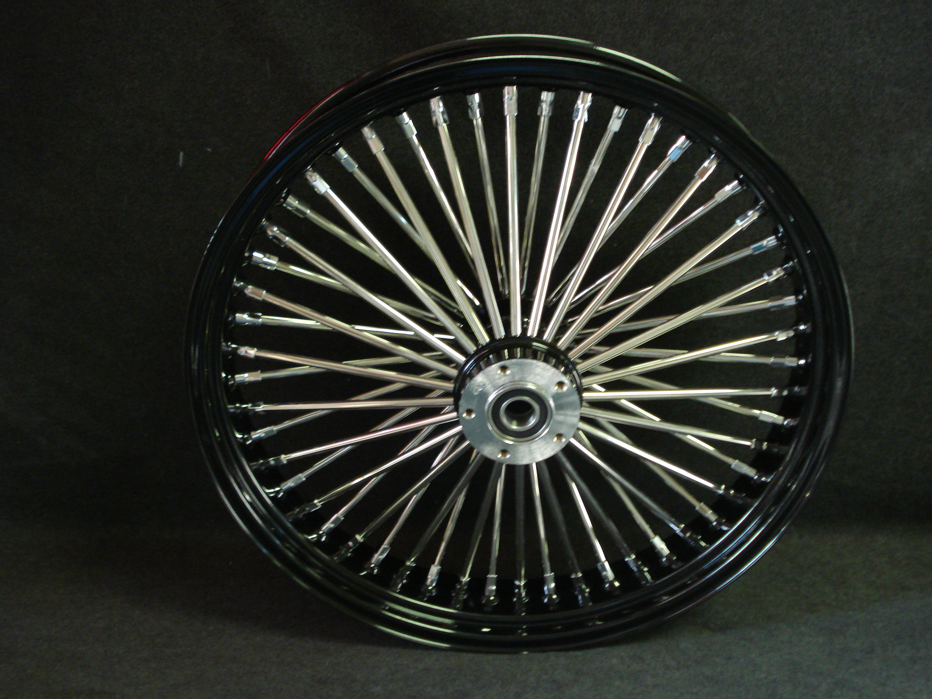 "21"" X3.5 BLACK DNA 52 FAT SPOKE WHEEL INDIAN CHIEF CHIEFTAIN ROADMASTER 2013-18"