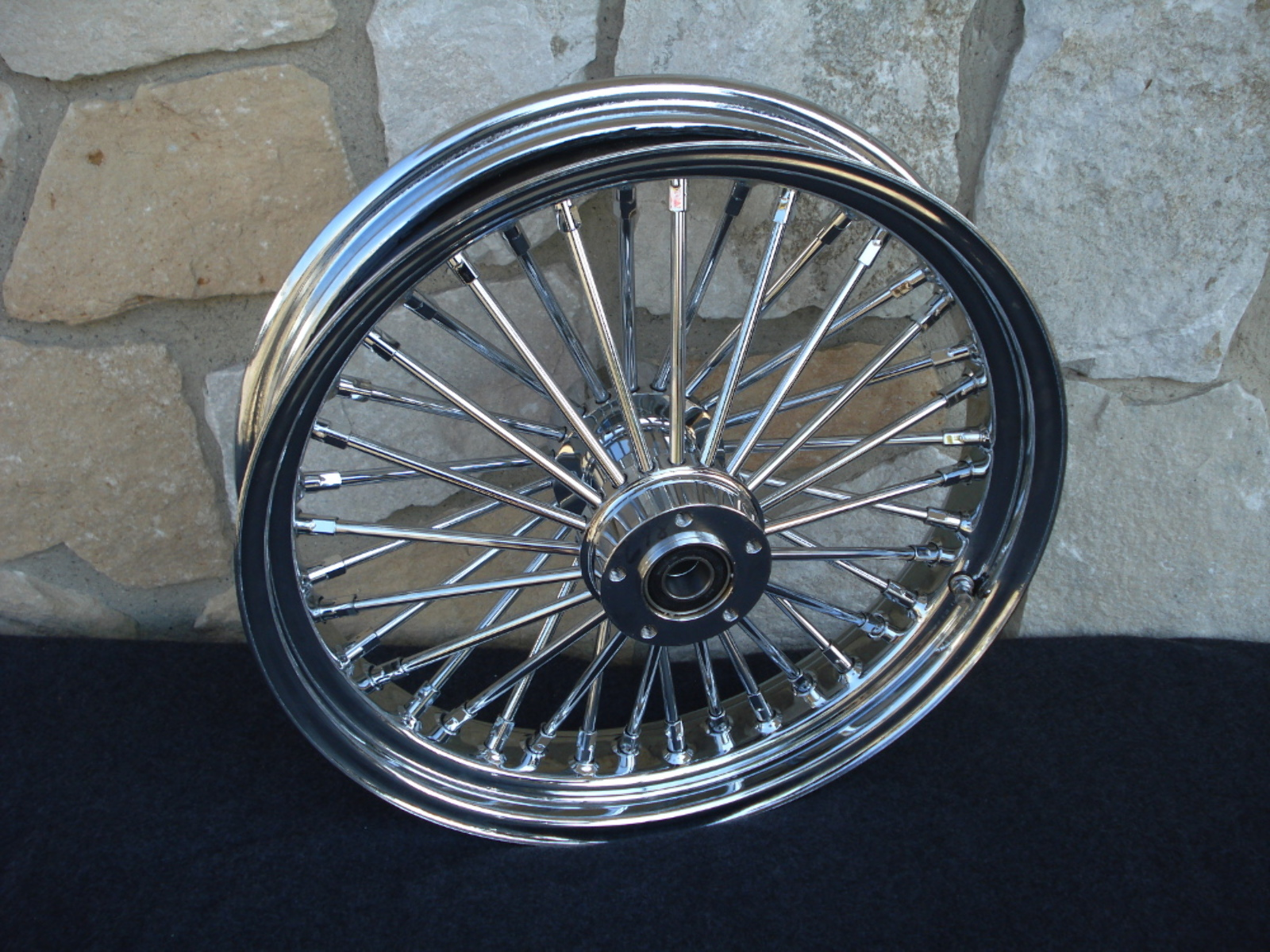 """18X3.5"""" DNA FAT SPOKE MAMMOTH REAR ABS 2012-UP WHEEL FOR HARLEY SOFTAIL HERITAGE"""