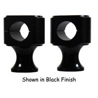 "CHROME CUSTOM 2"" SHORT HANDLEBAR RISERS FOR HARLEY BOBBER CUSTOM 1"" HANDLEBARS"