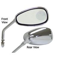 Universal Harley Chopper Bobber Chrome Magnifier Mirrors Pair Big Twin & Sporster