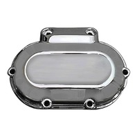 CHROME TRANSMISSION END COVER HARLEY TWIN CAMS REPLACES OE 37116-06