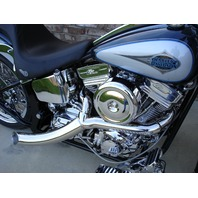 WINGED CHROME PLATED OIL TANK FOR SOFTAIL FATBOY HARLEY 1986-99