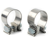 KCINT PR MUFFLER CLAMPS STAINLESS FOR SLIP-ONS MUFFLERS HARLEY TOURING 95-16