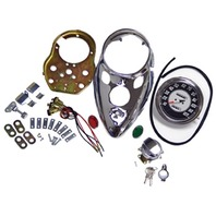 CATEYE INSTRUMENT PANEL 2:1 DASH SPEEDO KIT HARLEY DUO & ELECTRA GLIDE 1958-80
