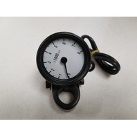 BLACK 12 VOLT MINI TACHOMETER OLD SCHOOL FOR HARLEY CHOPPER BOBBER 73-03