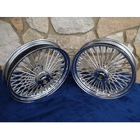 """18X3.5"""" DNA 52 FAT DADDY SPOKE WHEEL SET FOR INDIAN SCOUT SIXTY BOBBER 2015-UP"""