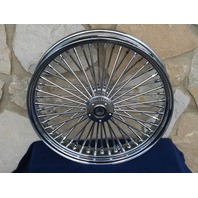 21 X 3.5 CHROME DNA 52 FAT SPOKE WHEEL INDIAN CHIEF CHIEFTAIN ROADMASTER 2013-18