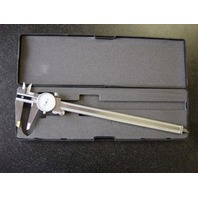 "PRECISION WHITE FACE 12"" DIAL CALIPER 0-100 ON DIAL MACHINIST TOOL"