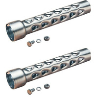 """Drag Specialties 1-3/4"""" Baffle Pipe Pair Set for Harley Drag Pipes & Custom Application"""