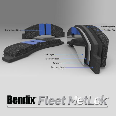 Bendix Fleet Metlok MKD967FM Brake Pad