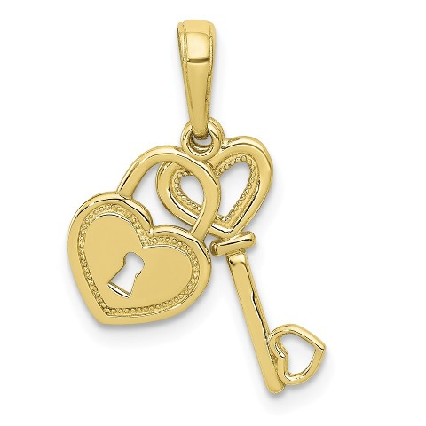 10K Yellow Gold Initial C Charm Pendant from Roy Rose Jewelry