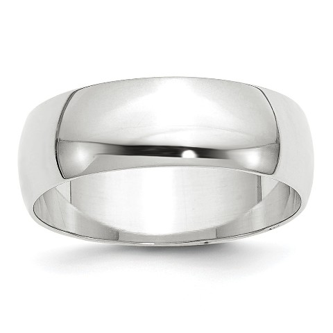 14K White Gold 3mm Half Round Bridal Wedding Ring Band