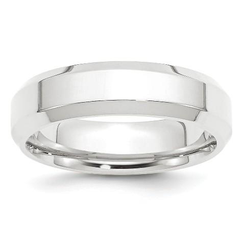Bridal Titanium Beveled Edge 6mm Polished Band