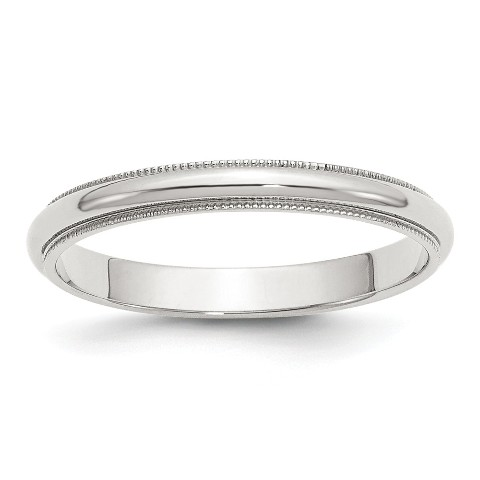 10k White Gold 3mm Bevel Edge Comfort Fit Band Ring Fine Jewelry Ideal Gifts For Women