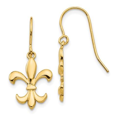 Roy Rose Jewelry 14K Yellow Gold Madi K Triple Teardrop CZ Dangle Wire Earrings