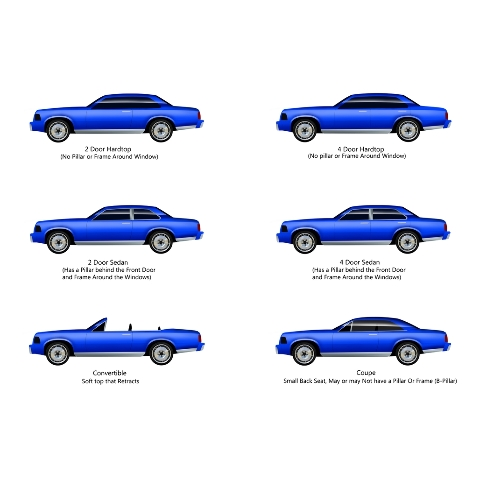 for 90-93 Volvo 240 4 Dr 2 Wheel Drive Cutpile 801-Black Complete Carpet Molded