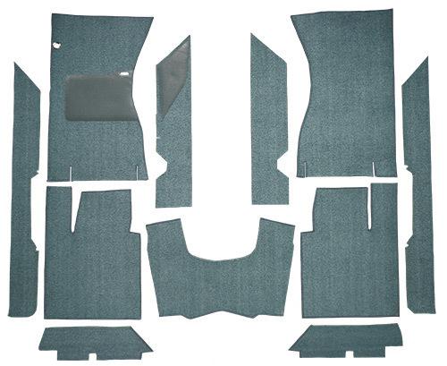 for 1961-63 Ford Thunderbird 2 Door Hardtop /& Convertible 06-Ford Blue Carpet