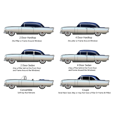 KNS Accessories KC0401 1956 Chevrolet Car Stainless Steel Scuff Pads for Fender Skirts