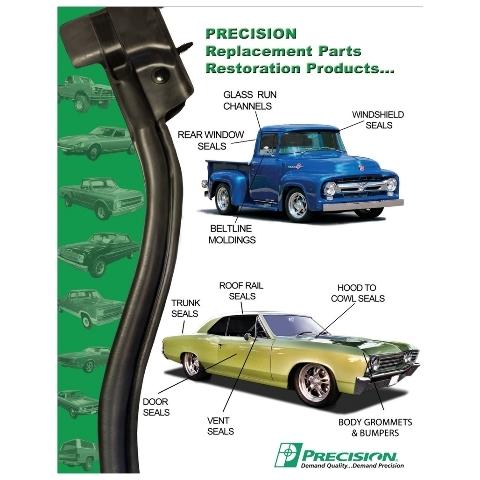 Window Sweeps Felt Kit Pair for 1984-96 Chevrolet Corvette Outer Left /& Right