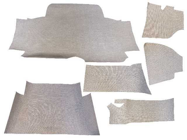 Trunk Floor Mat Cover For 64 Cadillac Deville 2dr Coupe Convertible Gray Tweed Ebay