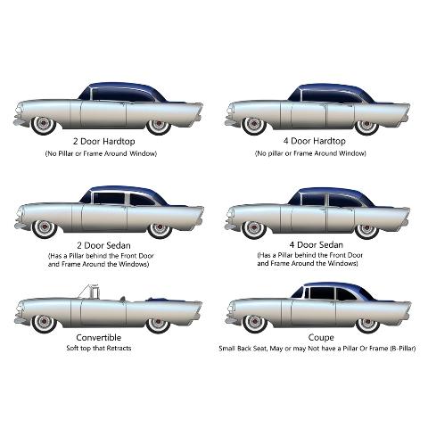 Sedan NEW 1959 Chevy Impala 2 Door Hardtop Or Convertible Door Panel Screws