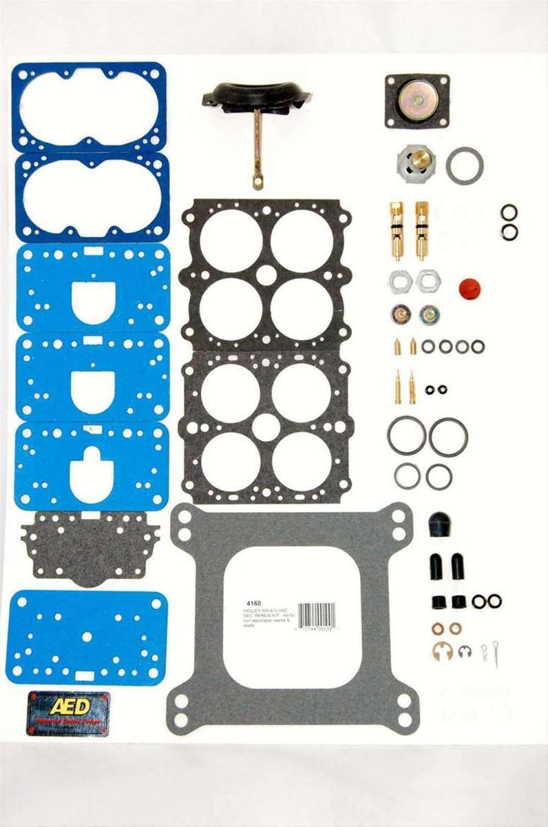 AED 4160 Holley Rebuild Kit Vacuum Secondary Carb 600 650 750 1850 3310 80508