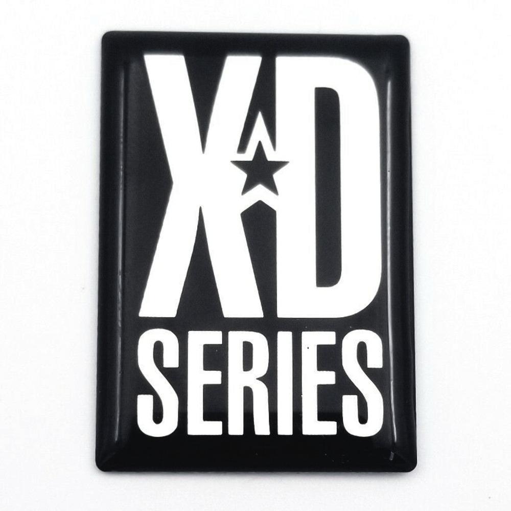Xd Series 775 Rockstar Wheel Spoke Logo Sticker Chrome Black W Clear Overlay Premium Parts Place