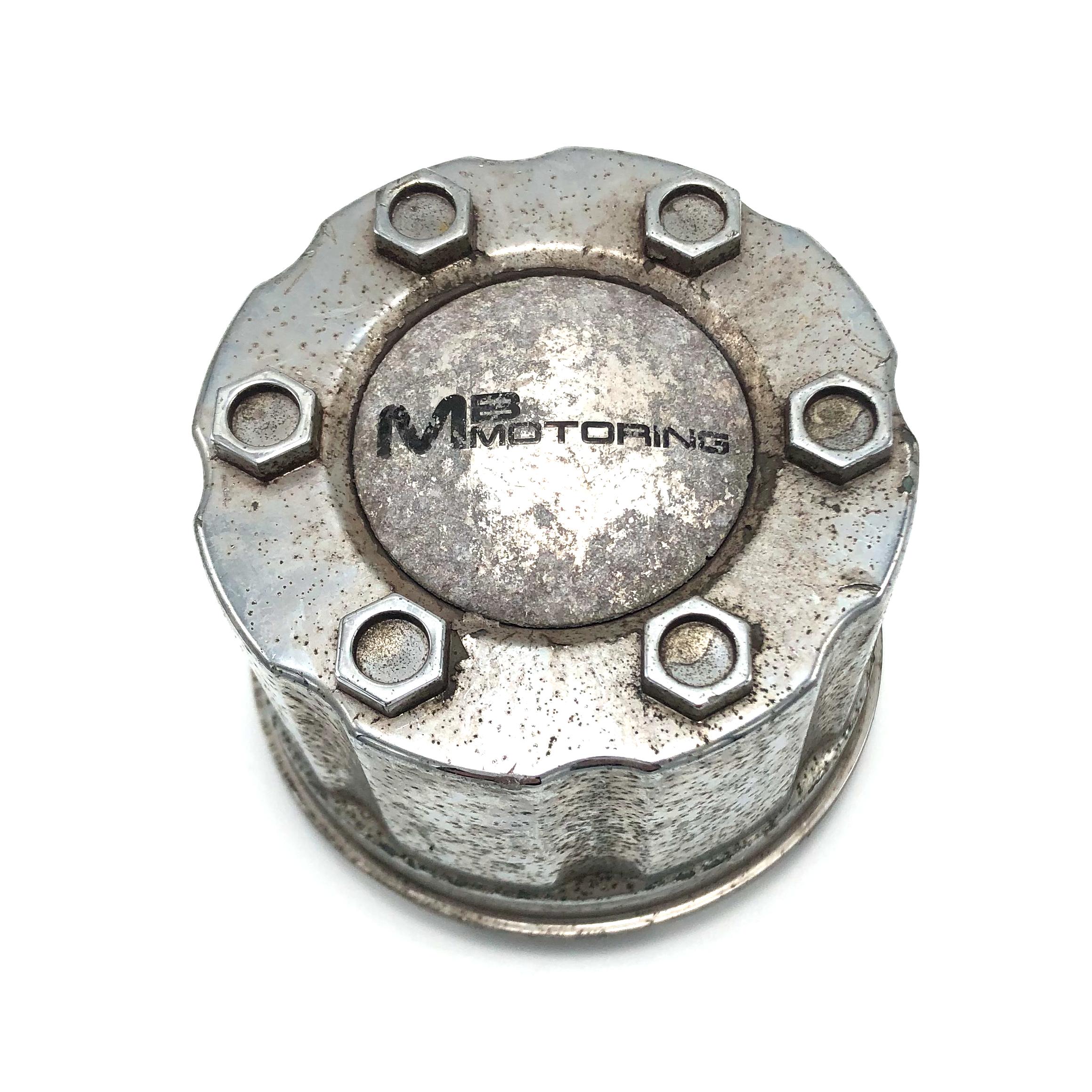 "MB Wheels Center Hub Cap 2-5//8/"" Diameter Snap In Chrome /& Black BC-683 900131"