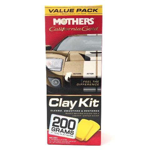 Mothers California Gold Clay Bar Detailer Kit Paint Correction Saving 07240