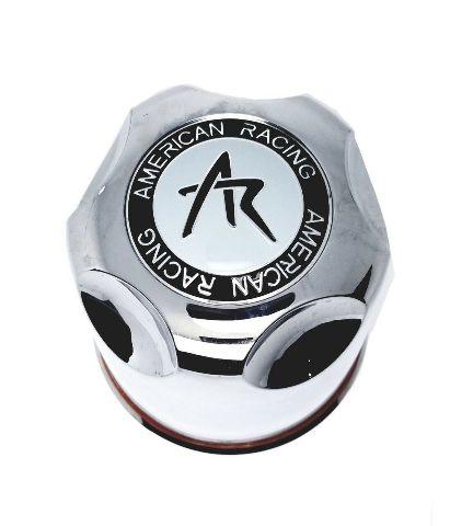 """American Racing Center Cap 4.25"""" Dia Push-Through Dome Chrome Plastic 1425000S"""