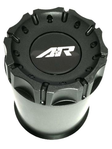 "8 Lug AR Push Thru Center Hub Cap Black Plastic Teflon XL 5.15"" Diameter"