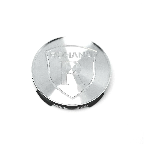 Rohana Silver Aluminum Wheel Center Cap Fits All Series and Styles of Wheels