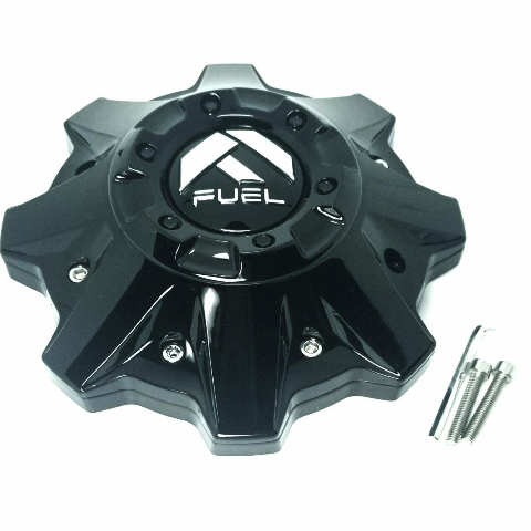 Fuel Gloss Black 8 Lug Wheel Center Cap with Riser fits Cleaver D239 1002-53GB
