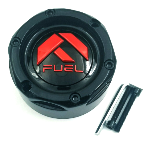 "Fuel Forged Gloss Black w/ Red Center Cap 20""-28"" 5 6 8 10 Lug FF01-FF12 Wheels"