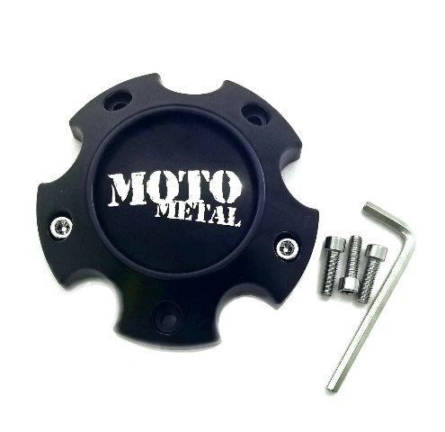 Moto Metal Satin Black Wheel Center Hub Cap 6 Lug 6x4 5