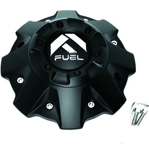 "Fuel Offroad Flat Black Truck Wheel 8"" Center Hub Cap 5 Lug 6 Lug #1001-63B"