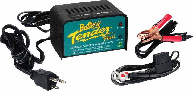 Battery Tender Plus 12V Battery Charger 1.25Amp 4 Step Charging Program