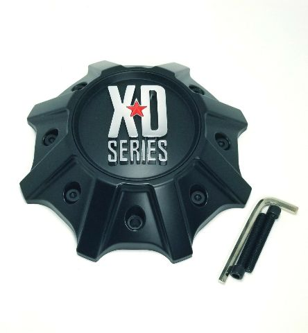 KMC XDS Satin Black Wheel Center Hub Cap 8 lug XD825