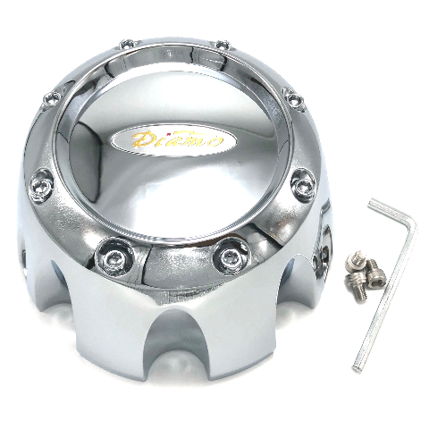 Diamo Wheel Center Hub Cap 8 Lug Chrome 8 Karat 16 Karat 17 Karat DI8 DI16 DI17