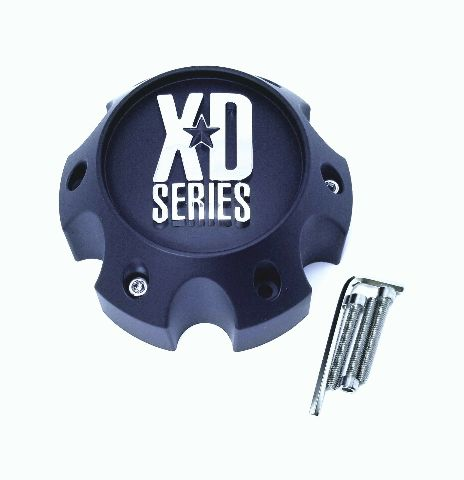 KMC XD Series Spy Addict Revolver Flat Black 6 Lug Chevy GMC Wheel Center Cap