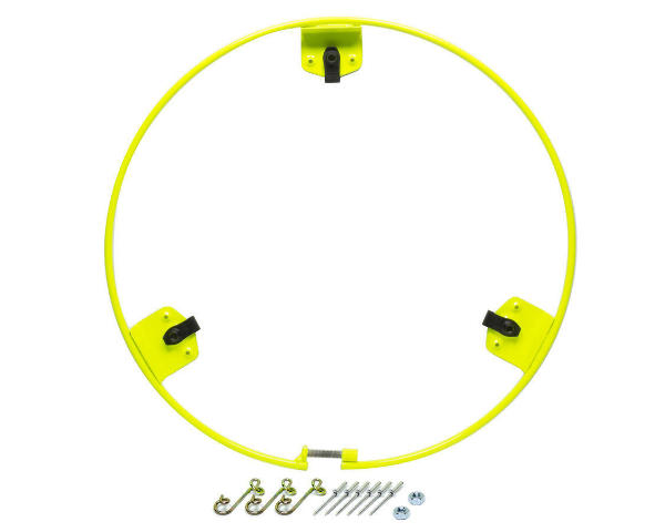 Dirt Defender Mud Cover Ring High Visible Yellow Bolt On Quick Release Hardware
